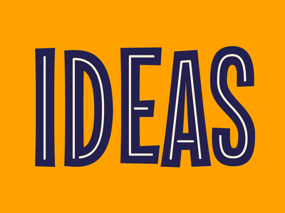 Bright Ideas neon ideas type lettering