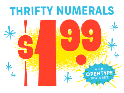 Thrifty Numerals store price grocery vintage retro lettering display font numerals thrifty