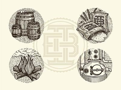 Two Brewers Monogram & Illustrations brewer yukon whisky illustration monogram