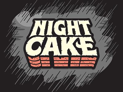 Night Cake Sticker horror night cake stephen king lettering type sticker