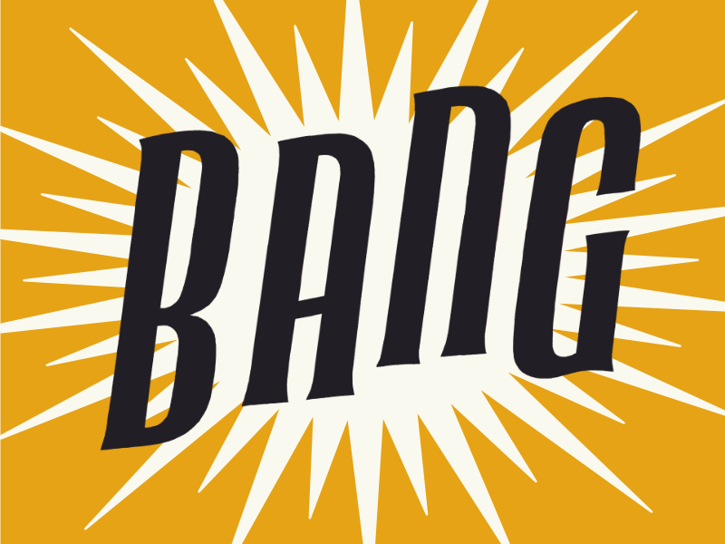 Big Bang big bang poster lettering science