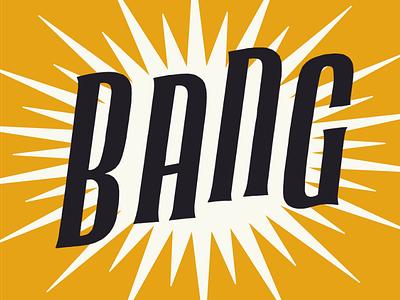 Big Bang big bang poster lettering science