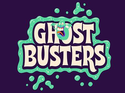 Ghostbusters halloween slimer horror lettering ghostbusters