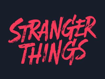 Stranger Things lettering brush horror 80s things stranger