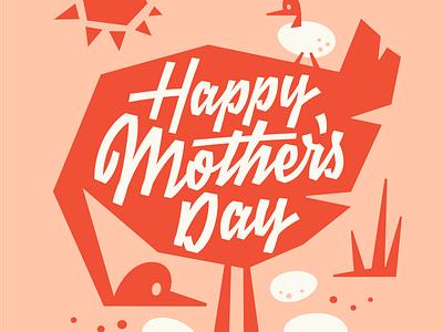 Mother's Day lettering script egg ducking goose bird hen mother