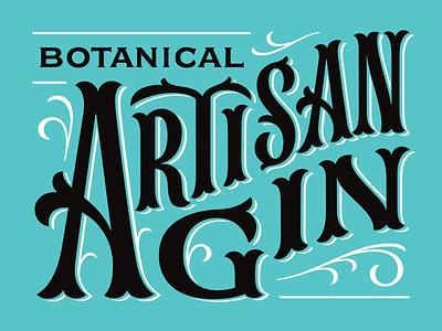 Gin Logotype tuscan artisan gin liquor yukon victorian spirit logotype logo lettering type