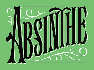 Absinthe Logotype absinthe tuscan liquor yukon victorian spirit logotype logo lettering type
