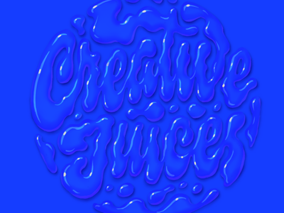 Creative Juices wet script procreate lettering type liquid juices creative