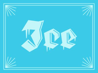 🥶 ice logotype thrones custom blackletter type got lettering