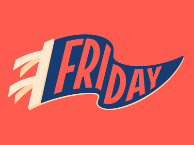 Facebook Stickers: Friday sticker pennant type friyay illustration lettering friday