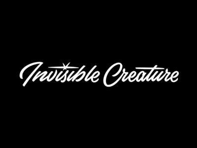 Invisible Creature Script creature invisible mid century logo logotype type script lettering