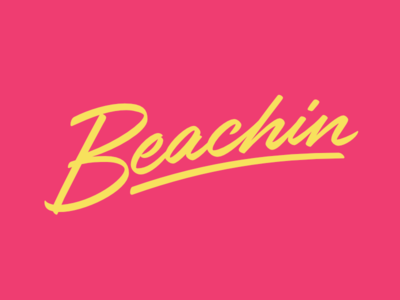 Beachin Brushscript 80s script brushscript summer beach