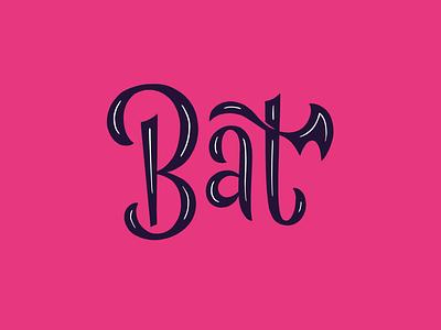 Bat type wing spooky halloween lettering bat