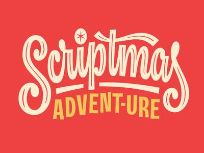 Scriptmas Advent-ure Title Card logo advent christmas script logotype type lettering