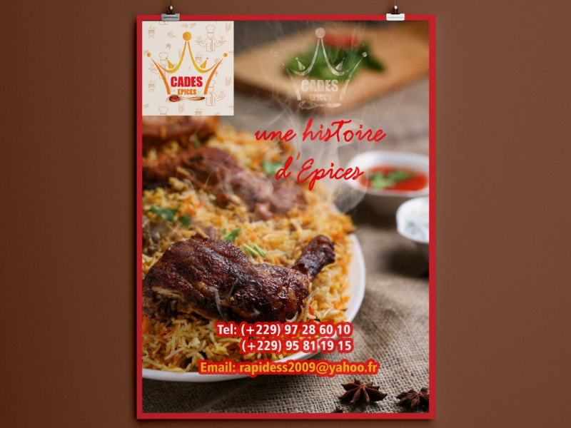 Poster design n°3 CADES EPICES spices africa graphicdesigner