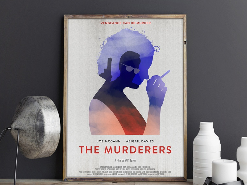 The Murderers Film Poster Illustration marchbranding quirky brandon typography movie movie poster illustration film poster murderers poster film