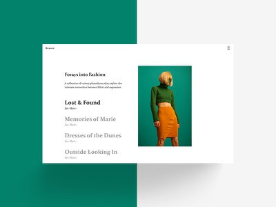 Introducing — Theme Beacon links photography project gallery collection landing simple cover site format portfolio theme