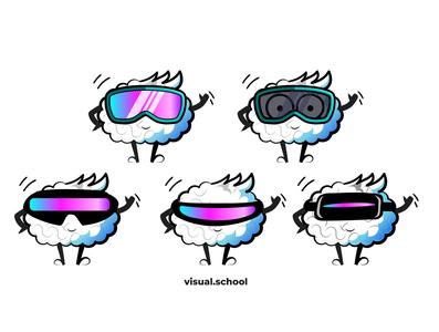Eniac VR Glasses typography logo gimp inkscape webdesign vector print fonts color indesign photoshop illustrator motion character