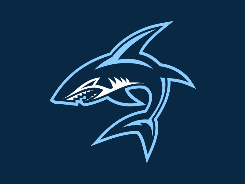 Shark Logo by Andrew Krause on Dribbble