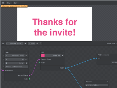 Node Image Editor UI - WIP gui ui interface dark app button buttons fontawesome editor