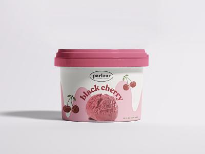 Cherry Sorbet Packaging dessert sorbet pink photoshop packagedesign icecream food cherry labeldesign packaging design branding