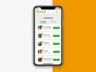 Mobile Leaderboard leaderboard mobile ui daily ui