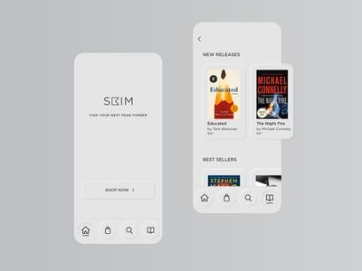 Neuomorphic Bookstore Concept