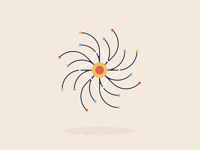 Coronation 👑 flat sun lockdown friend biology virus colour abstract coronavirus illustration