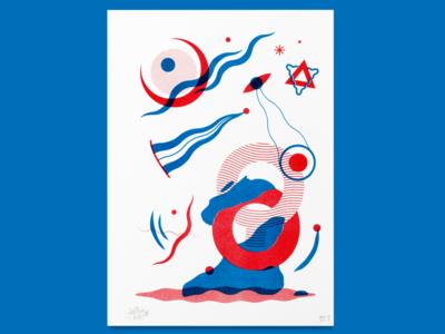 Archetypes nº2 - Pasive universe sun moon door soul metaphysics reality quantum mechanics uiux graphic design beings illustration