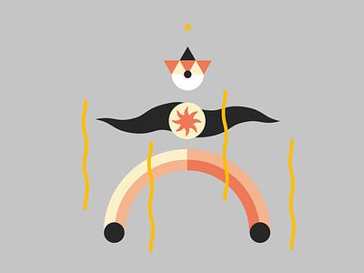Wizard fight fire uiux sun moon illustration