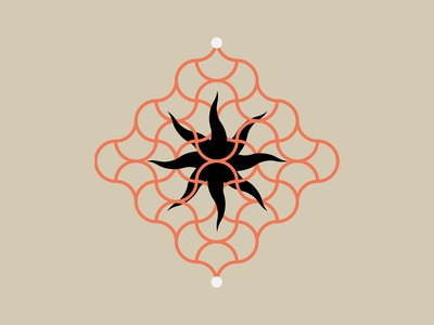 Space Time vector logo metaphysics 2d star soul magic reality quantum beings temple water flat fire uiux door graphic sun moon illustration