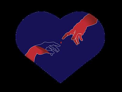 Logo Design for a Blood Donating Community vector design illustration logo