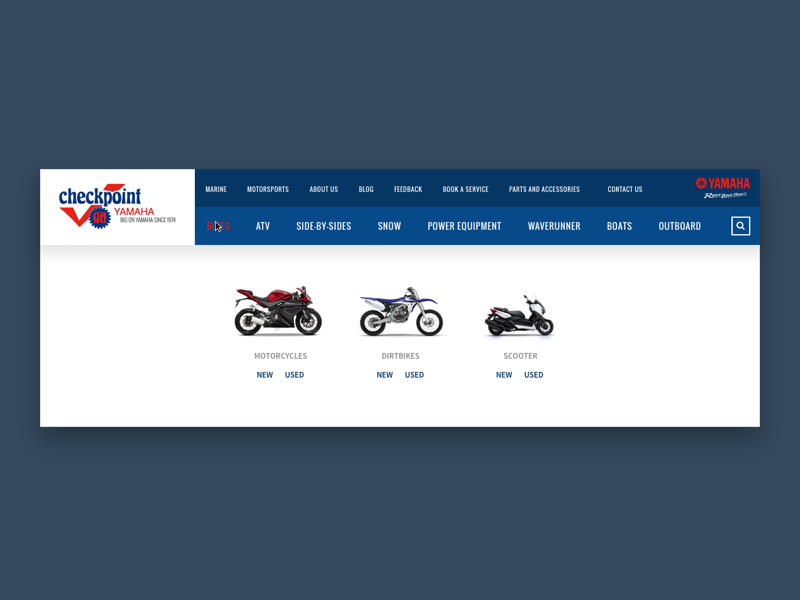 Dropdown Navigation ux ui dropdown interface layout grid website web landing home page motorcycle automotive
