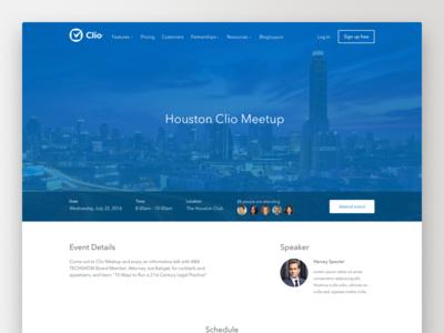 Clio Event Details Page