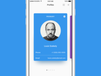 Profile Card View account ios ux ui app mobile pagination card profile