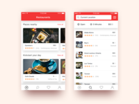 Restaurant Finder ux ui iphone ios design app finder food restaurant