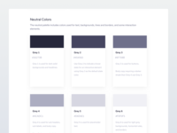 Neutral Colours kit ui brand styleguide colours colors