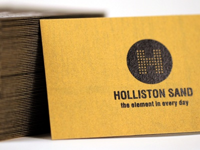 Holliston sand paper business cards