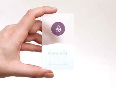 Figmints Plastic Business Cards