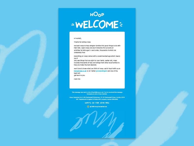 Hoop Welcome Email By Humberto De Sousa Dribbble Dribbble