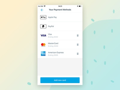 Your Payment Methods