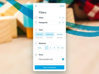 Hoop Web Filters time price distance categories streamline icons mobile web filters kids app hoop