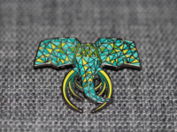 LOW POLY ELEPHANT PIN