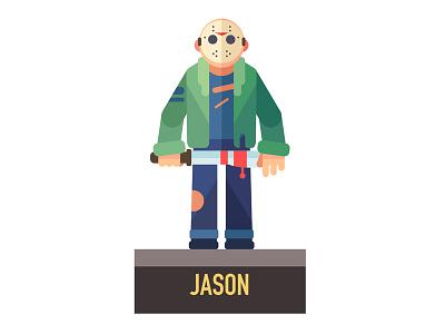 Jason flat vector graphic illustration jason