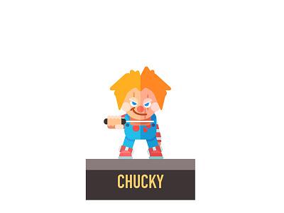 Chucky graphic illustration flat vector chucky