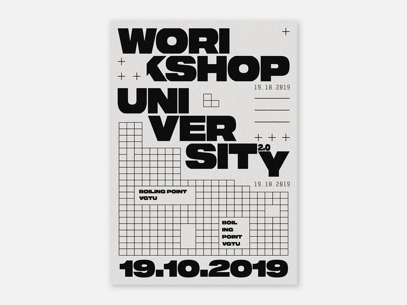 Poster - Workshop University 2.0 black and white dadaism vanguard workshop university typographic blackandwhite white black posters typography web design poster design poster art poster graphic design design