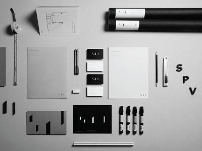 SPV Architects architecture stationery branding