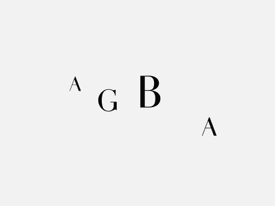 AGBA branding identity minimalism logo bw lettering