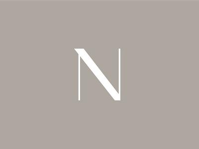 Nonette logotype minimal elegant brown brand fashion logo