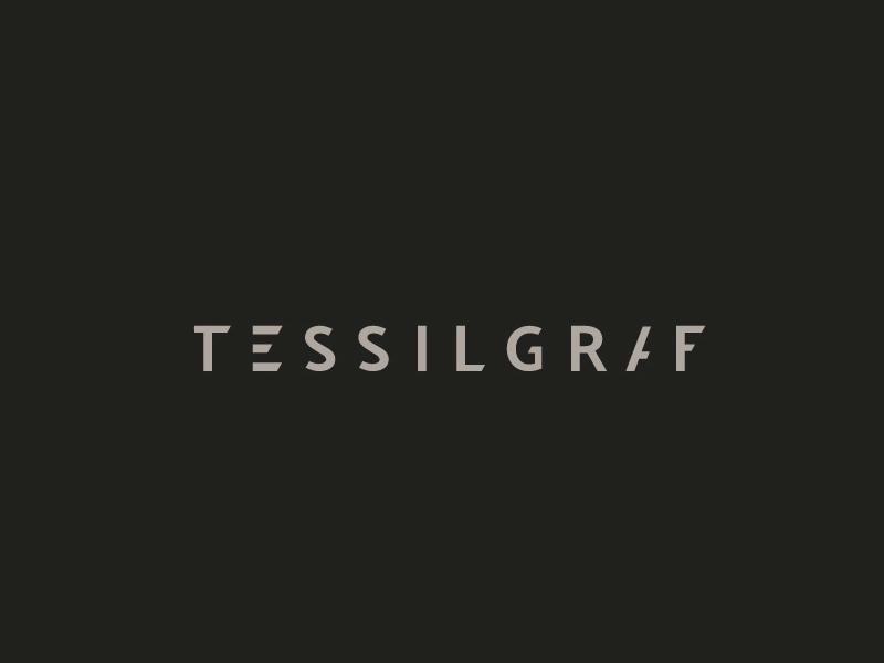 Tessilgraf Corp. identity minimalism logo bw lettering